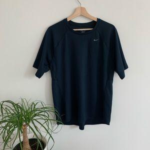 Nike - Men's Dark Blue Dri-Fit Short Sleeve Shirt